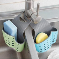 Wholesale Kitchen Sink Baskets - Cute Kawaii Kitchen Portable Hanging Drain Bag Drain Shelf Basket Bath Storage Gadget Basket Bath Storage Tools Sink Holder CCA6469 120pcs