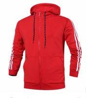 Wholesale Hip Hop Clothes For Women - Jacket for men and women New designer Brand Kanye West A Hip hop sport jacket red big size coat Men's windbreaker D 3XL Outerwear Clothing