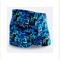 Wholesale Wholesale Boys Swimming Briefs - Wholesale- Top quality Mens Boys Trunks Swimming Boxer Briefs Trunks SwimWear Beach Holiday Summer Shorts pant