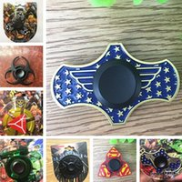 Wholesale Naruto Finger - 2017 Wonder Woman metal Hand Fidget Spinner Superman Spiderman Naruto Tri-Spinner spinners Finger Gyro Decompression Toys christmas gift