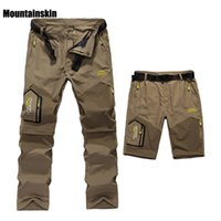 Wholesale Spring Mens Outdoor Shorts - 5XL Mens Summer Quick Dry Removable Pants Outdoor Brand Cloting Male Breathable Shorts Men Hiking Camping Trekking Trousers A009