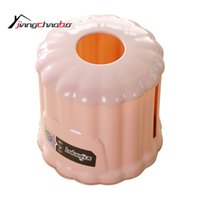 Wholesale Paper Cylinder Box - Wholesale- New Tissue Boxes Creative Cute Cylinder Shape Towel Tube With Bath Toilet Paper Tissue Box Car Kit Toothbrush Cup Tissue Box