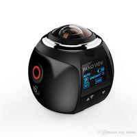 Wholesale new lcd 3d hd - V1 4K 360 Degree Action Camera Wifi Mini 2448*2448 16MP Ultra HD Panorama Camera 3D Waterproof VR Camera