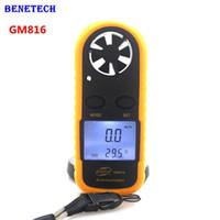 Wholesale measure rings - Digital Hand-held Wind Speed Gauge Meter GM816 30m s (65MPH) Pocket Smart Anemometer Air Wind Speed Scale Anti-wrestling Measure