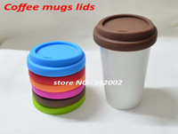 Wholesale Wholesale Light Covers Glass - Wholesale- Silicone lids for Coffee Mug,Anti-dust Seal Lid(only for lids),coffee mug lid sealing cover for mug,Eco-friendly glass ldis