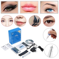 Wholesale Machine Digital Permanent - Fast Shipping Digital Permanent makeup Cosmetic Kits eyebrow microblading pens lip eyebrow eyeline cosmeticos make up machine