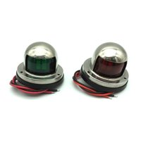 Wholesale Marine Yacht Led Light - Marine Boat Yacht 12V Port Starboard Stainless Steel LED Navigation Lights Red and Green Pair