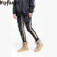 Wholesale S Beam - Wholesale- HIPFANDI High Street 2017 New Four Pieces Of Zipper Good Quality Joining Together Pants Hiphop Jogger Fashion Beam Foot Trousers
