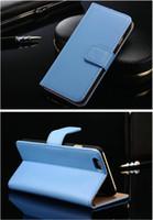 samsung mobiles yeni gelenler toptan satış-Yeni Varış Cüzdan PU Flip Deri Cep Telefonu Kılıfı Samsung s6 için Kredi Kartı Yuvası Tutucu ile