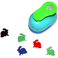 Wholesale Diy Art Foam Craft - Wholesale- free shipping 1 inch rabbit design eva foam punch paper punches scrapbooking cutter hole punch craft punching for DIY artwork