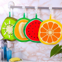 Wholesale Napkin Printed - Lovely Fruit Print Hanging Kitchen Hand Towel Microfiber Towels Quick-Dry Cleaning Rag Dish Cloth Wiping Napkin ZA4541