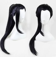 Wholesale Hair Wigs For Men Long - chinese ancient dynasty wig hair for men swordsman wig chinese warrior cosplay hair han dynasty cosplay long black wig