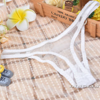 Wholesale Lingeries Transparent - GZDL Sexy Women Transparent Lingeries Sheer Mesh Panties Ladies G-String Underpants Briefs Underwear Thongs V-string NY210