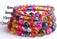 Wholesale Tourmaline Beads Bracelets - Popcorn Tourmaline Stone, Semi Precious Stone Bead Bracelet Mutilcolour Natural Loose Beads Stone Jewelry Strands Wholesale Women Party