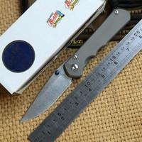 Wholesale D2 Sebenza - Chris Reeve Large Sebenza 25 Titanium Handle D2 steel blade Folding Pocket hunting Knife camp Tactical survival outdoor knives edc tools