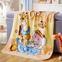 squirrel deck - Double deck Baby Blanket Children Soft Coral blankets Sleeping Cover Plaid cm squirrel Minnie Cartoon Characters plaid Blankets