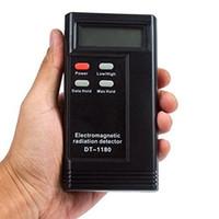 dozimetre test cihazı toptan satış-Yeni Elektromanyetik Radyasyon Dedektörü EMF Metre Cihazı radyasyon dozimetre Hayalet Avcılık Ekipmanları DT-1180 DT1180
