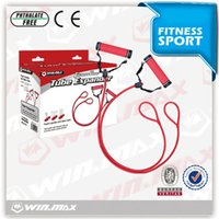 Wholesale Red Foot Pedal - Tension Rope Foot Training Resistance Bands Winmax Weight Tube Expander Youth Fitness Rope Leg training Leisure Sports Pull