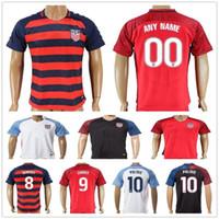 Wholesale American Football Jersey White - 2017 18 USA Soccer Jerseys 10 Christian Pulisic 4 Bradley 8 Dempsey Jones Altidore WOOD DONOVAN ZARDES LLOYD MORGAN American Football Shirt