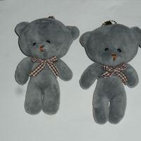 Wholesale Bear Bag Gift - 11CM Popobe Gloomy Teddy Bear Cute Plush Bag Keychain Car Key Holder for Bag Charm Hanging Ring Pendant Doll Wedding Decoration Gifts