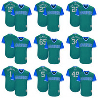 Wholesale Baseball Brother - 2017 Seattle Mariners 15 Corey's Brother 23 Boomstick 22 Don't You Know 65 Big Maple 34 King Felix 1 Zoombiya 49 Yo Weekend Baseball Jerseys