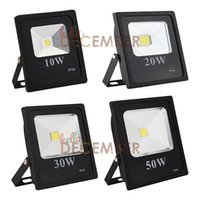 AC / DC 12V 10W 20W 30W 50W RGB Vermelho Verde Azul Warm Frio Branco LED Floodlight Outdoor impermeável LED Flood Light