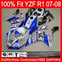 Wholesale r1 fairings fimer for sale - Group buy 8Gifts Colors Injection For YAMAHA YZF1000 YZFR1 YZF NO27 Blue FIMER YZF R1 YZF YZF R YZF R1 Fairing