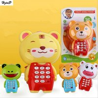 Wholesale Toy Phones For Babies - New Creative Cartoon Music Phone Baby Toys Mobile Phone Educational Learning Electric Toy Phone Model Machine Best Gift for Kids