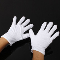 Wholesale Wholesale White Cotton Gloves - 12 Pairs White Inspection Cotton Lisle Work Gloves Coin Jewelry Lightweight New