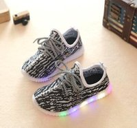 Wholesale Coconut Lights - hot led Children's light shoes breathable soft bottom baby boys shoes kids running coconut fashion girls Casual