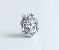 Wholesale 925 Silver Lion - Authentic Sterling Silver 925 lion fish kangaroo animals cz Bead Fit Pandora Charm Bracelet women wedding bracelet cz Jewelry