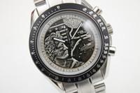 ingrosso quarzo della vigilanza della luna-Luxury Top Qualiy Quartz watch Uomo Apollo Moon orologio Black Dial Stainless Band Stainless orologio Monor Hemmo