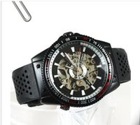Wholesale Winners Watch Sale - Hot sale WINNER men's sport watch fashion business watches mechanical automatic wristwatches black rubber strap w03