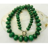 Wholesale Faceted Emerald Beads - Free Shipping 10-18mm Natural Emerald Faceted Gems Roundel Beads Necklace Factory Wholesale price Women Gift word