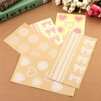Wholesale Lace Lovely Adhesive Sticker - Wholesale- 1pcs Hot Lovely White Lace Heart Transparent Seal Stickers Phone Diary Decor DIY For Scrapbooking Envelopes Cup Gift Pack