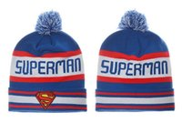 Wholesale Superman Winter Caps - New Team superman Beanies Caps Sports Hats All Caps in stock Top Quality Hat