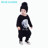 Wholesale Leaders Clothing - Bear Leader Baby Boy Clothes Autumn Cotton Baby Boys Clothing Set Baby Rompers Clothes One Piece Jumpsuit TO THE MOON Cartoon