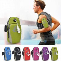 Wholesale nylon wrist bag resale online - Running Phone Bag Sports Wrist Package Arm Bags Outdoor Waterproof Nylon Arms sleeve For Camping Hiking Waterproof Hot Sell bc J1 X