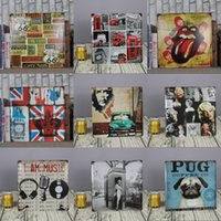 Wholesale Paint Rock Wall - wholesale 30x30cm rock music UK THEME metal painting for bar pub house wall decor tin sign vintage poster signs plaques