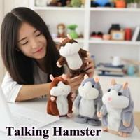 ingrosso giocattolo di conversazione del criceto-3 colori 15 cm Parlare Hamster Peluche Party Toys Speak Sound Record criceto Peluche Animale Bambini Regali Di Natale Con Pacchetto Opp CCA7742 10 pz