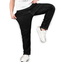 Wholesale 5xl Tall - Wholesale- Men's Black Stretch Jeans Plus Size Straight Denim Pants Trousers for Men Big and Tall 40 42 44 46 48