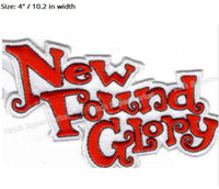 "Wholesale Sewing Findings - 4"" NEW FOUND GLORY Music Band Metal Iron On Sew On Patch Tshirt TRANSFER MOTIF APPLIQUE Rock Punk Badge Free shipping"