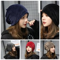 6 couleurs Femmes Nouveau peluche Hedge Cap Velvet Solid Color Pile Heap Hat Lady Simple Loisirs Soins Ear Head Hat YYA617