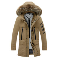 Wholesale White Fur Hooded Ski Jacket - Wholesale- 2016 New Men thick down jacket warm waterproof windproof ski snowboard 4 COLORs