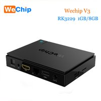 Wholesale V3 Tv - Original WeChip V3 android tv box KDPlayer 16.1 6.0 OS RK3229 Quad Core frequency:1.5G 1GB 8GB Wifi Media Player