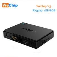 Wholesale Tv Box V3 - Original WeChip V3 android tv box KDPlayer 16.1 6.0 OS RK3229 Quad Core frequency:1.5G 1GB 8GB Wifi Media Player