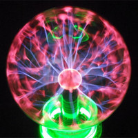 "Wholesale room card - 4 5 6 8"" inch Magic PLASMA BALL RETRO LIGHT FASHION Room Decor Gift HEALTH Lightning Light Lamp Party Vehicle-Mounted Control Novelty Light"