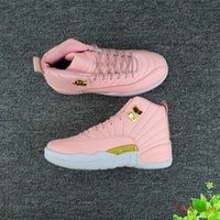 Wholesale Womens Boots 12 - 2017 new women basketball shoes retro 12 GS wolf grey vivid pink XII 12s running womens sport shoe woman casual designers sneaker
