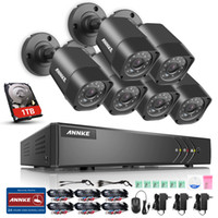 ANNKE 8CH H.264 + HD1080N DVR 720P TVI Outdoor IR CUT Caméra CCTV Outdoor Indoor Day Night Système de sécurité 1TB