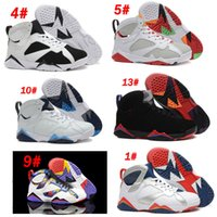 Wholesale Bobcat Fabric - Basketball Shoes Retro VII 7 Bordeaux Dark Grey Sliver Hare Nothing But Net Bobcats MARVIN THE MARTIAN Alternate Discount Sports Boots